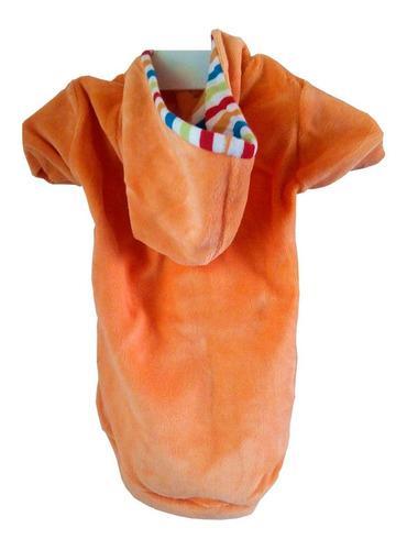 Campera plush capucha abrigo ropa cachorros perros talle 1
