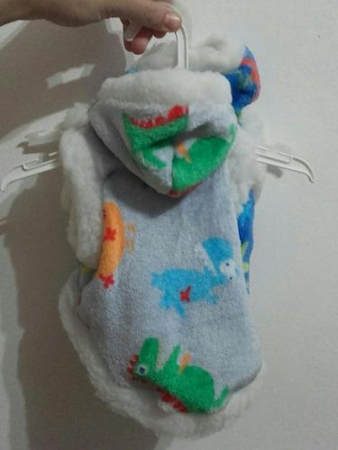 Campera polar soft para perro abrigo capucha t1
