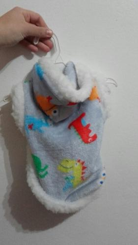 Campera polar soft para perro abrigo capucha t2