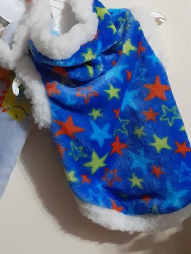 Campera polar soft para perro abrigo capucha t3