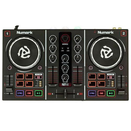 Controlador numark party mix consola dj mixer con luces