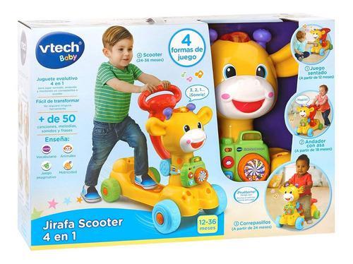 Andador caminador monopatín jirafa bebe 4 en 1 vtech 5035
