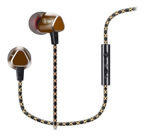 Auriculares in-ear manos libres qkz x36m deportivo c estuche
