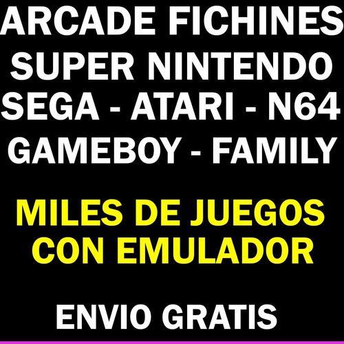 Juegos y emulador arcade fichines sega super nintendo family