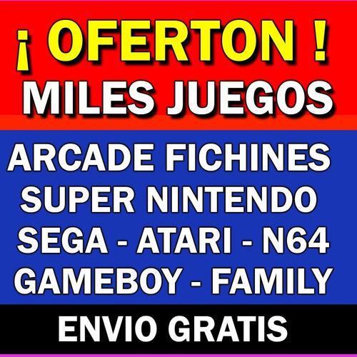 Mega pack juegos arcade fichines sega super nintendo atari