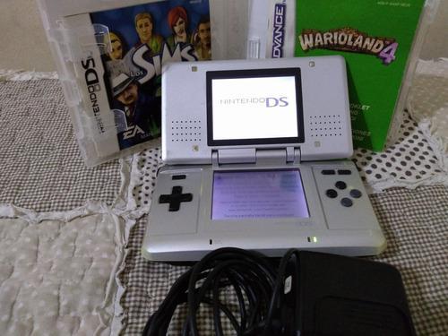 Nintendo ds primera generación + lápiz + cargador + 2