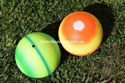 Pelota voley liviana en pvc multicolor fluo 240 gramos nac