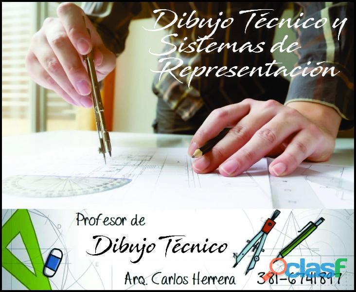 Preparo alumnos en dibujo técnico en Tucumán 1