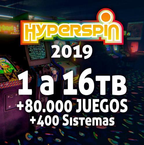 Arcade hyperspin 2019 pc 6tb +75.000 juegos +383 sistemas