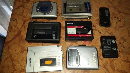 Lote de walkman,cassette player,mini radios leer descripcion