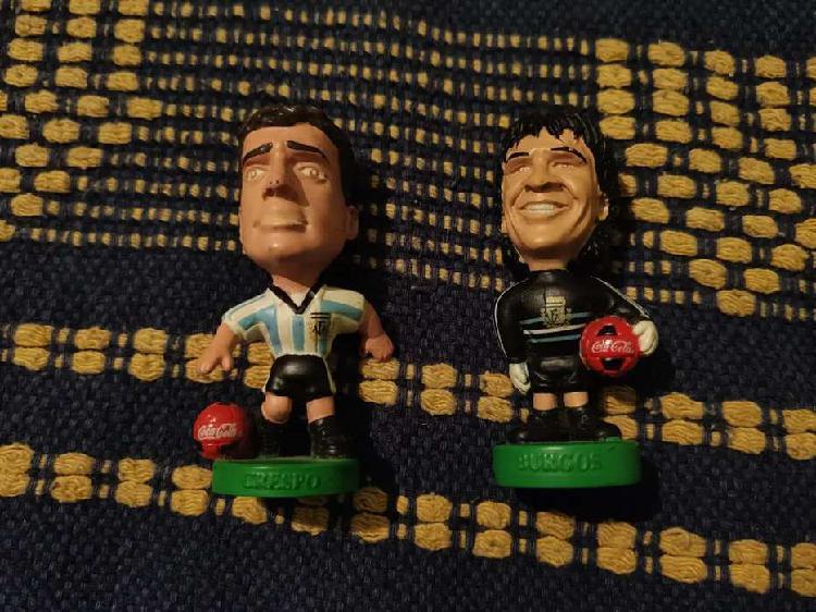 Muñecos cabezones cocacola selección argentina