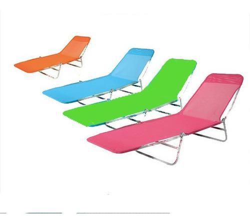 Reposera easy set camping plegable reclinable pileta valija