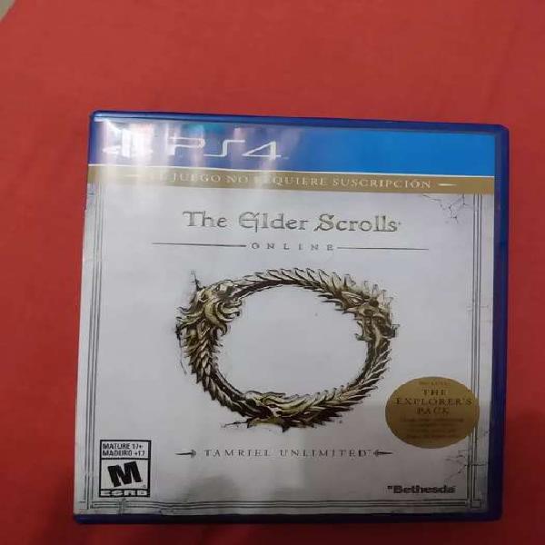The elder scrolls online ps4 (precio negociable)