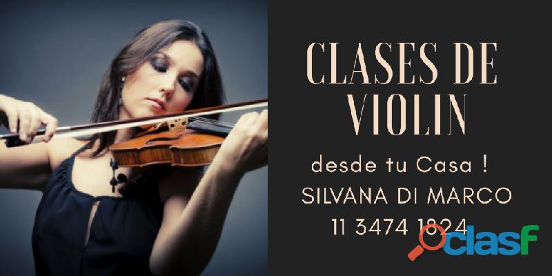 Clases de violín desde tu casa