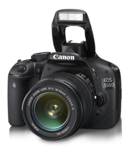 Camara canon eos 550d full hd 18.7mp + lente ef18-55 + funda