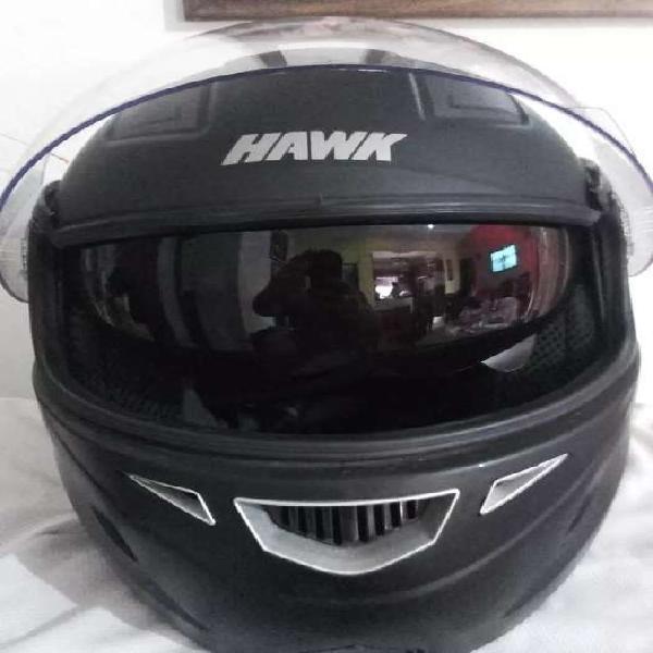 Casco hawk rs5 revatible doble visor talle s excelente