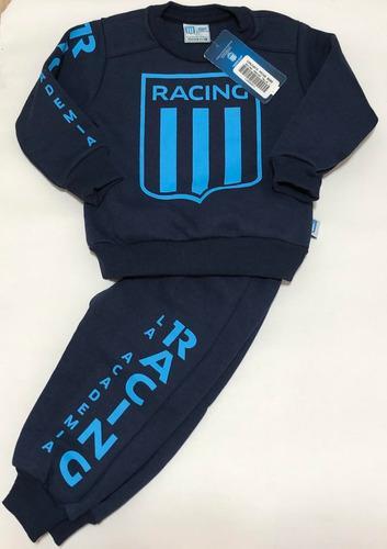 Conjunto largo algodon de bebe racing club producto oficial