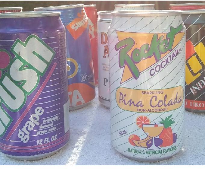 Latas de bebidas - década del '90