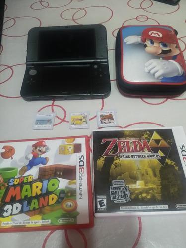 Nintendo 3ds xl poco uso, estuche, 6 juegos y cargador.