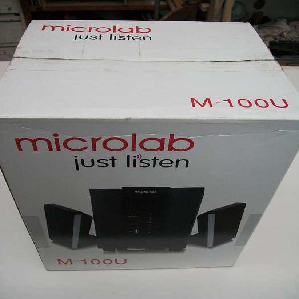 Parlantes 2.1multimedia microlab usb, sd , miniplug 3.5