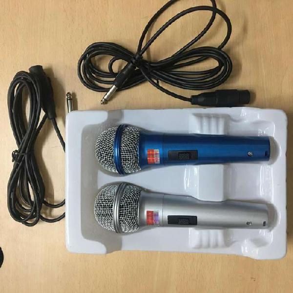 Set microfonos x2 con cable 1,5 metros