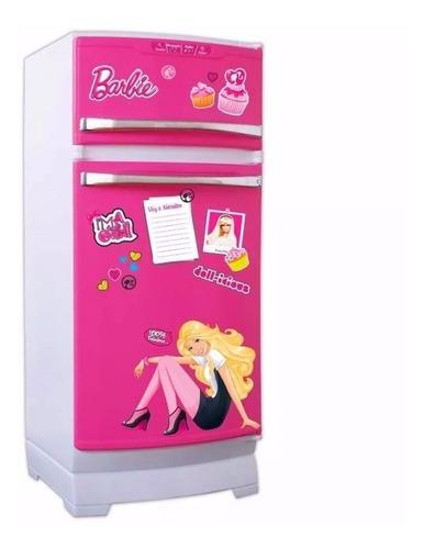 Heladera barbie original tv con accesorios lelab
