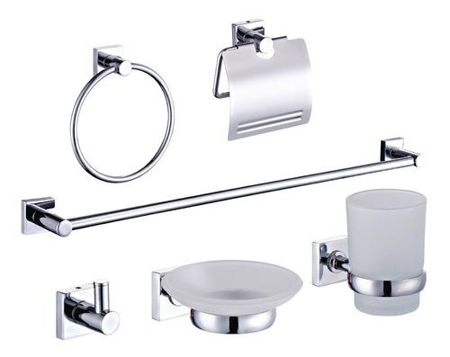 Kit set 6 accesorios baño cromo griferia was-ser sbaden-02