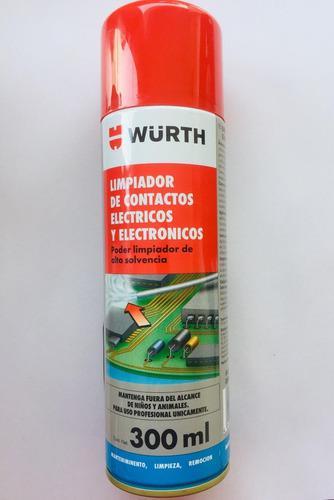 Limpiador de contactos electicos y electronicos wurth x300ml