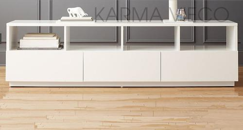 Mueble rack tv lcd mesa plasma laqueado rack cajones 180 cm