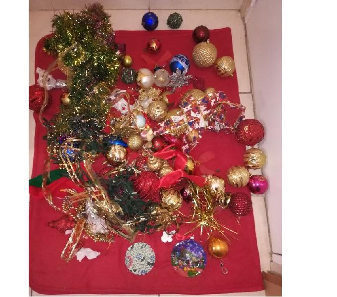 Vendo lote adornos árbol de navidad importadas, bolas,