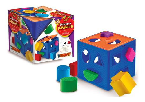 Juego didáctico cubo primeras formas encastre duravit