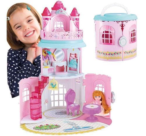 Lujoso castillo magico princesas muñecas grande con 3 pisos