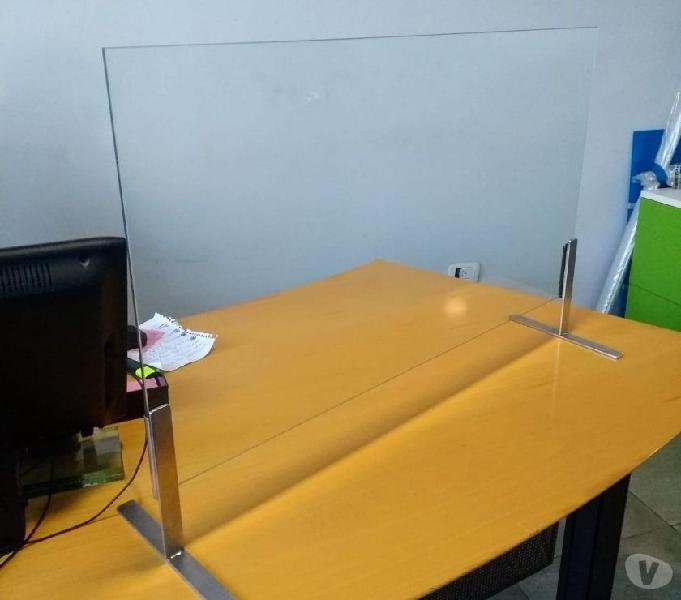 Vidrio separador para mostrador escritorio distancia social