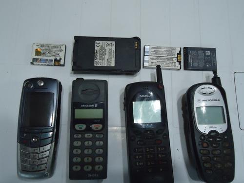 Lote de tres celulares y un nextel para reparar o repuestos