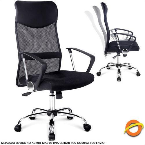 Silla oficina escritorio sillon ejecutivo ergonomica ruedas