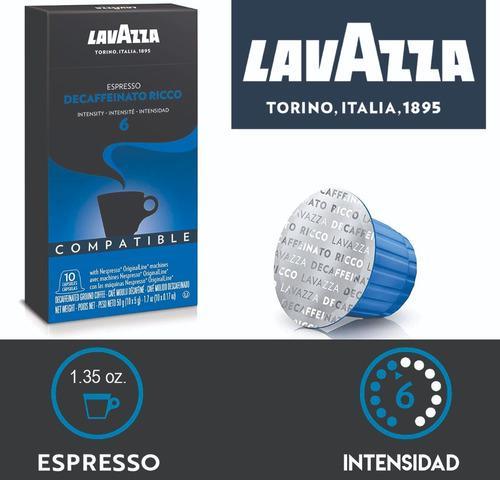 Café descafeinado lavazza compatible nespresso x 10