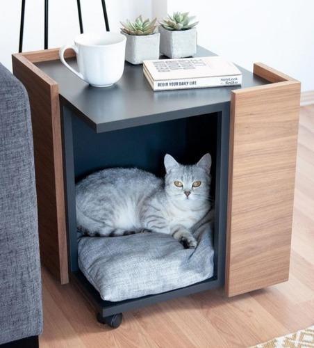 Cucha mueble funcional interiores perro- gato