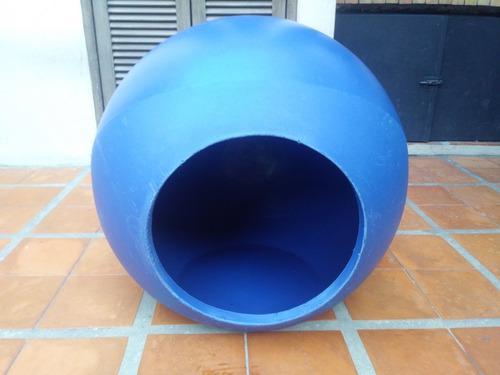Cucha redonda para perro o gato,azul.