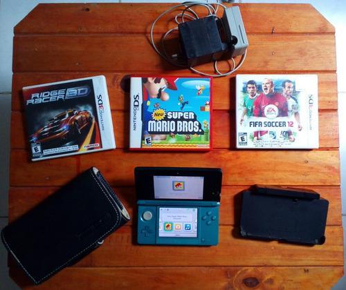 Nintendo 3ds, con juegos y accesorios