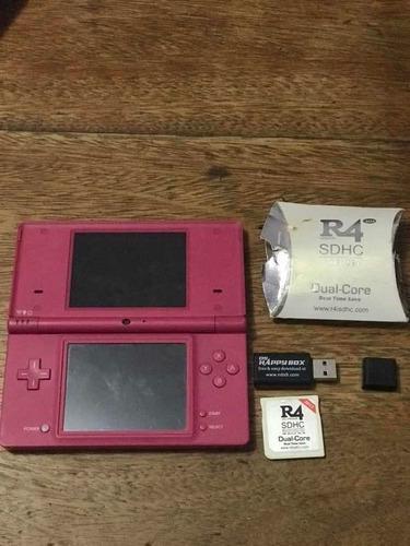 Nintendo dsi color rosa en perfecto estado + tarjeta r4