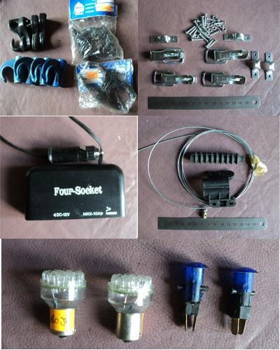 Repuestos náuticos: lámparas multisocket trabas ganchos