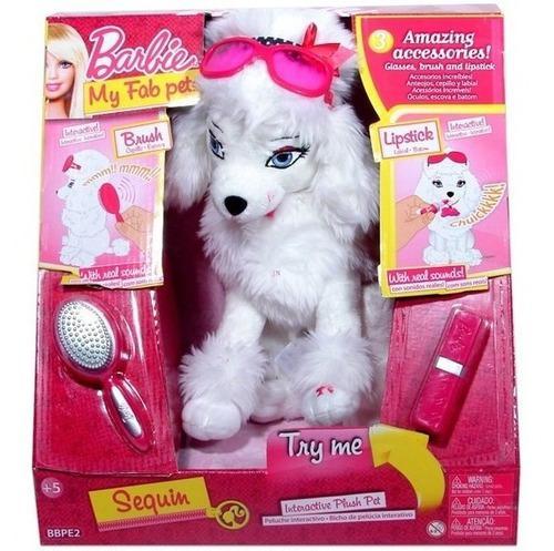 Mascota perro sequin barbie interactivo sonidos accesorios