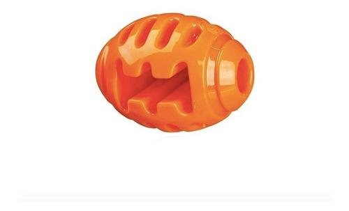 Pelota rugby soft & strong naranja perros 10cm polypterama