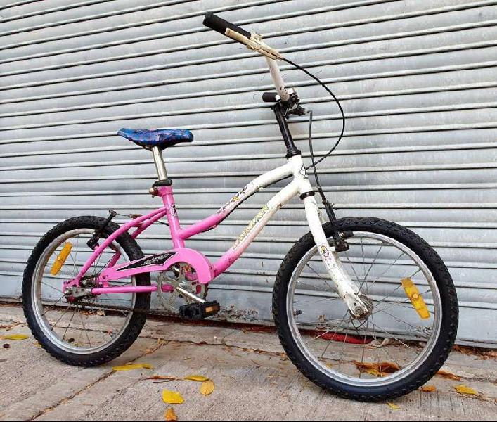 Bicicleta niños niñas rodado 16 rosa y blanca buen estado.