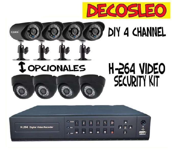 Kit de camaras vigilancia x4 full hd