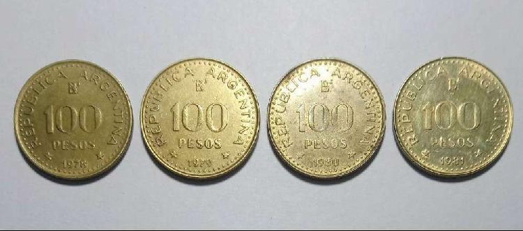 Lote coleccion monedas 100 pesos 1978/81
