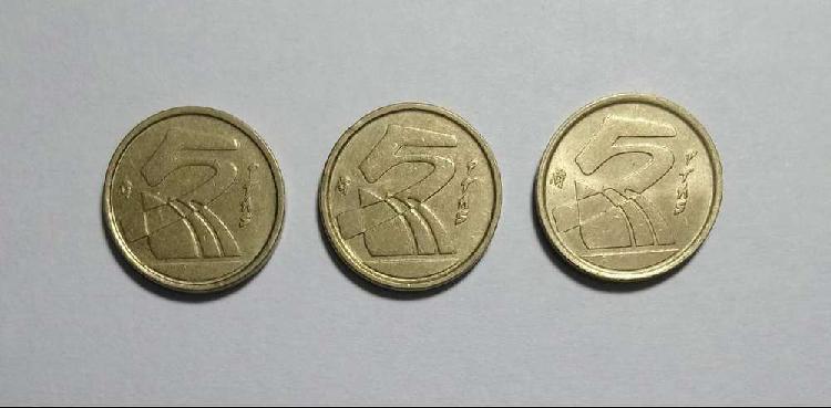 Lote monedas 5 pesetas 1991/92/98