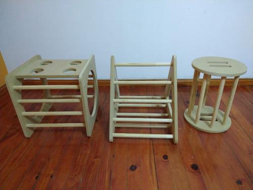 Cubo elementos pickler juguetes de madera montessori