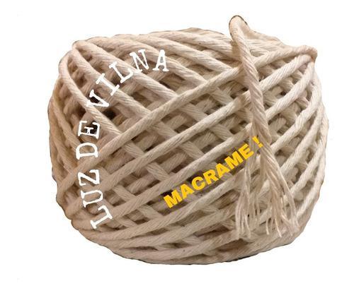 Hilo macrame algodon 50m el esperado! tejer, artesanias.