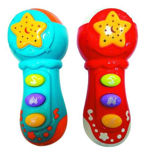 Sonajero micrófono didáctico con sonidos para bebé